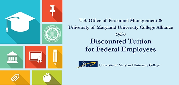 Image with education graphics and UMUC logo on right