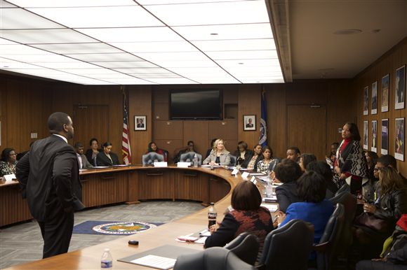Photo of the Historically Black Colleges and Universities forum meeting.