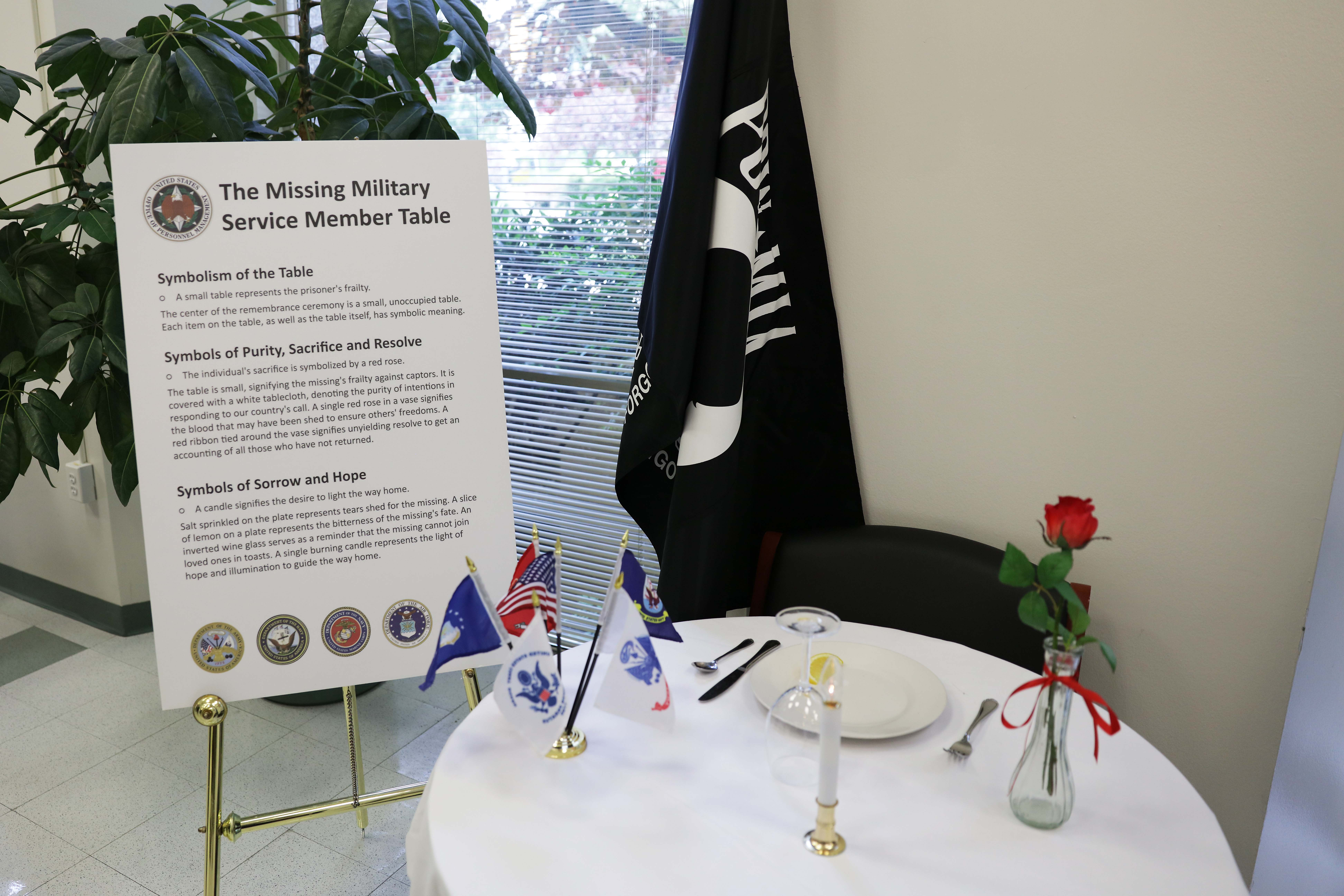 Photo of The Missing Military Service Member Table