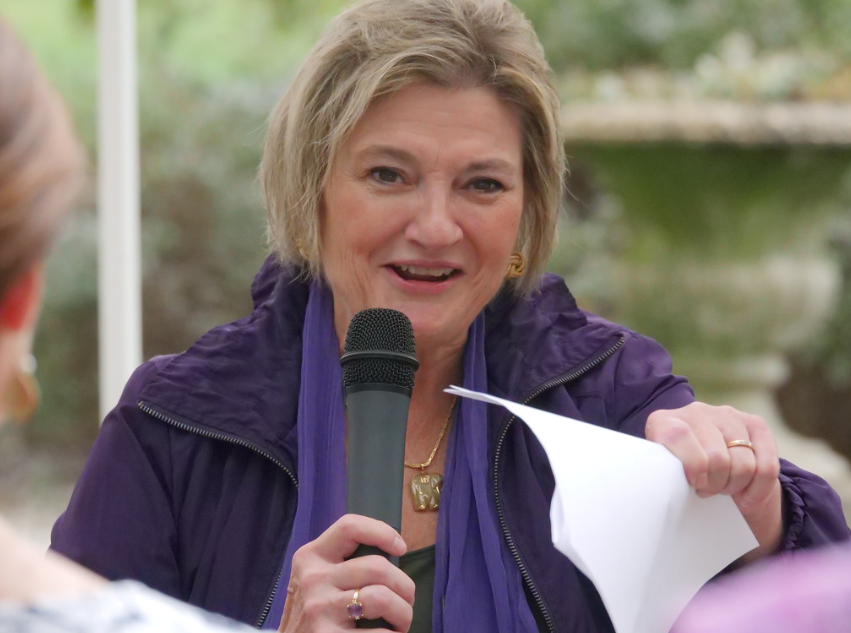 Kathleen McGettigan speaks at Domestic Violence Awareness Walk 2018