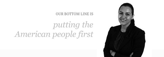 Our bottom line is putting the American People First