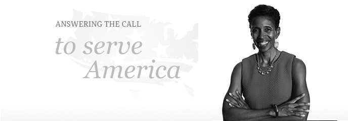 Answering the call to serve America.
