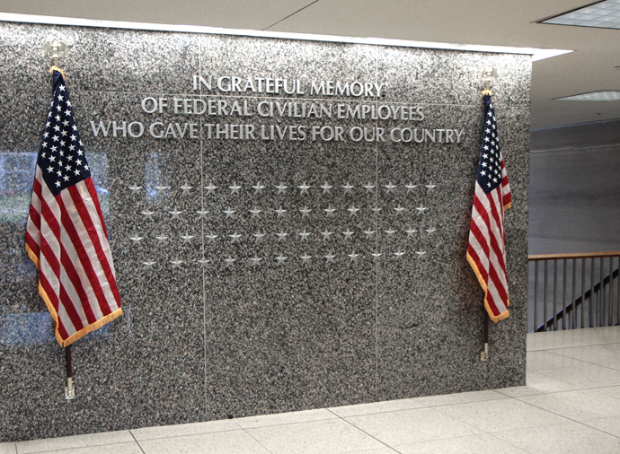 Photo of Wall of Honor at Office of Personnel Management