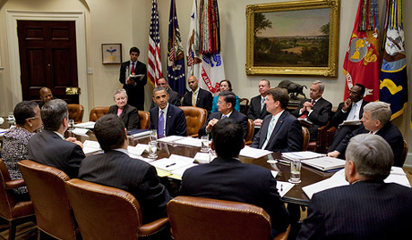 The Council on Veterans Employment updates the President on the progress of the Veterans Employment Initiative.