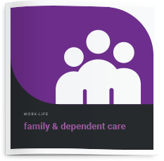 Brochure cover for dependent care