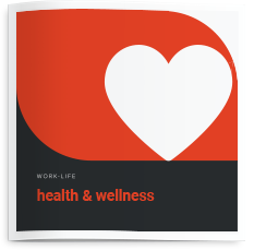 Brochure cover for health and wellness