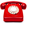 Image of a red telephone