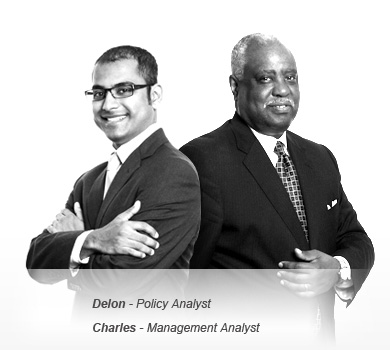 Image of Delon - Policy Analyst and Charles - Management Analyst