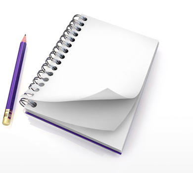 Image of pencil and notepad