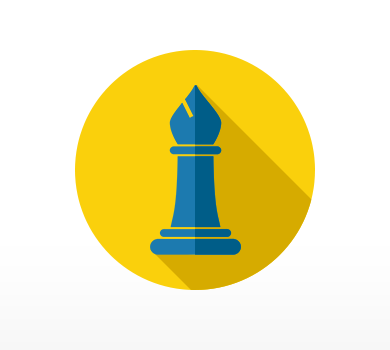 Graphic of a chess piece.
